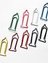 Condom modelo plástico Envuelto Clips de papel (10pcs colores aleatorios)