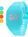Mujer Reloj de Moda Reloj de Pulsera Cuarzo LED Silicona Banda Casual Cool Azul Rojo Amarillo