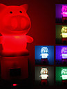 Pig Shaped Mudando a cor Night Light LED (220V)