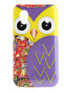 Purple Owl Pattern Hard Case for Samsung Galaxy Ace S5830