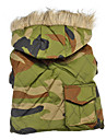 Army Camouflage Style Warm Coats with Hoodies for Dogs (XS-XXL)
