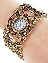 Liga das mulheres pulseira relógio de quartzo analógico (Gold)
