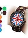 Unisex UK Flag Pattern PU Analog Quartz Wrist Watch (Assorted Colors) Cool Watches Unique Watches