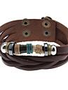 Bracelet noir en cuir d'Ivoire