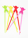 Portable Silicone Doll Learning Chopsticks(1 Pair Random Colors)