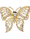 다이아몬드 나비 모양의 브로치