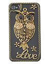 """Жесткий чехол для iPhone 4/4S с узором совы и надписью """"Love"""""""