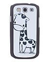 Projeto dos desenhos animados Giraffe Hard Case durável para Samsung I9300 Galaxy S3