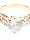 Heart-shaped Diamond Ring Zircon