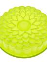 Molde de bolo de silicone em forma de girassol Cor aleatória