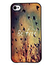 Free Birds Coloured Drawing Pattern Black Frame PC Hard Case for iPhone 4/4S