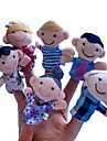 6PCS Family Member Plush Finger Puppets Kids Talk Prop