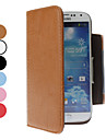 PU Leather Case with Card Slot for Samsung Galaxy S4 I9500 (Assorted Colors)