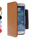 PU Bolsa em couro com slot para cartão de Samsung i9500 Galaxy S4 (cores sortidas)