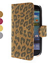 삼성 갤럭시 S3 I9300 (분류 된 색깔)를위한 대와 카드 구멍을 가진 표범 본 PU 가죽 케이스