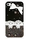 아이폰 4 / 4s 아이폰 케이스에 대 한 bowknot 장식 레이스 보석 케이스