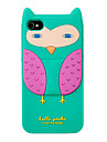 Silica Gel Cartoon Owl Pattern Protective Case for iPhone 4/4S