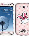 Lovely Rabbit Pattern Body tarra Samsung Galaxy S3 I9300