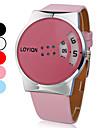 женская красочные с дисковым набором номера PU Группа Кварцевые наручные часы (разные цвета)