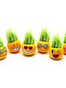 Diy Visage de sourire planter de l'herbe poupée jaunes (Assorted Patterns)