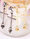moda europeus e americanos pingente personalizado cruz rebites brincos pingentes brincos (cor aleatória)