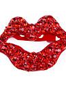 Европейские и американские случайные британском стиле ретро красные губы полные бриллиантовая брошь броши X52