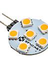 SENCART 60-80 lm G4 6 leds SMD 5050 Branco Quente AC 12V