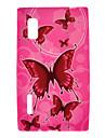Rose Housse de protection de modèle de papillons pour LG E610/E612/L5