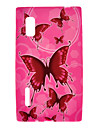 Розовый узор бабочки Защитный чехол для LG E610/E612/L5