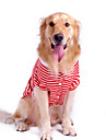 Pure Cotton Stripe Style Pet T-Shirt for Dogs (Assorted Color,S-XL)