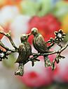 Две птицы цветы имитации бриллиантовое колье (бронза) N313