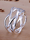 Net Design Silver Ring