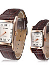 EYKI Couple's Classic Square Dial Leather Band Quartz Analog Wrist Watch (Assorted Colors) Cool Watches Unique Watches