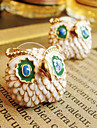 Japan and South Korea boutique lovely delicate drip beak owl stud earrings E291