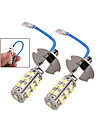2 pcs 25SMD H3 3W Cold White LED Fog Light 200 Lumens Car Headlight