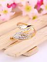 Японских и корейских Оптовая продажа ювелирных изделий Отрасли Листья Листья полны любви кольцо кольцо с бриллиантом