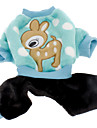 Cerf sika modèle pantalon chaud à quatre pattes mignons pour Animaux Chiens (Assorted Sizes)