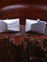 Многогранные персональный подарок запонки гравировкой