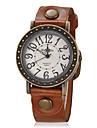 Mulheres Relógio de Pulso Relógio Elegante Relógio de Moda Quartzo Silicone Banda Vintage Preta Branco Azul Vermelho Marrom