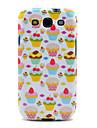 Teste padrão bonito Morango Bolos TPU macio caso capa Voltar para Samsung Galaxy S3 I9300 Galaxy