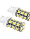 T20 5W 24x5060SMD 450LM 5500-6500K Холодный белый свет Светодиодные лампы для автомобилей (12V, 2шт)