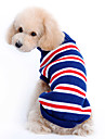 Dog Sweater Dog Clothes Stripe Dark Blue Costume For Pets