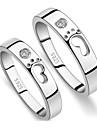 Z&X®  (2 pcs)Fashion Unisex Transparent Rhinestone Couple Rings