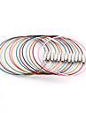 Classique ronde multicolore Acier inoxydable & cables (10 PCs / Lot) (multicolore)