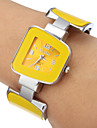 Women's Yellow Dial Quartz Analog Bracelet Watch Cool Watches Unique Watches Strap Watch