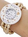 Bracelet de Montre Montre en Bois Quartz Bande Heart Shape Bohème