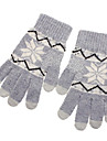 Snowflake Pattern Gray Screen Touching Gloves for iPhone, iPad and All Touch Screen Devices