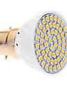 5W B22 LED 스팟 조명 60 SMD 3528 420 lm 따뜻한 화이트 AC 220-240 V
