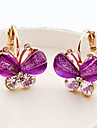 Women\'s Crystal Stud Earrings - Crystal, Rhinestone Butterfly, Animal Classic Purple / Green / Blue For Daily / Casual