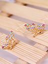 Korean version of the three-dimeearrings butterfly earrings E783